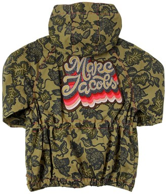 Little Marc Jacobs Hooded Cotton Gabardine Parka