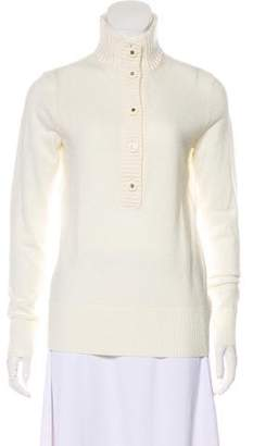 Tory Burch Mock Neck Button-Accented Sweater w/ Tags