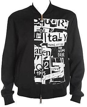 DSQUARED2 Men's Punk Print Wool-Blend Bomber Jacket