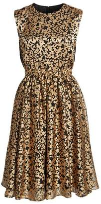 Women's Catherine Catherine Malandrino Kells Metallic Fit & Flare Dress