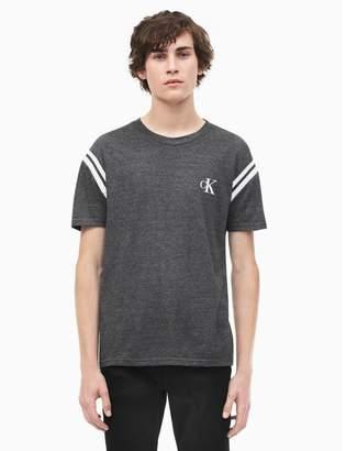Calvin Klein boxy fit crewneck rib tip t-shirt