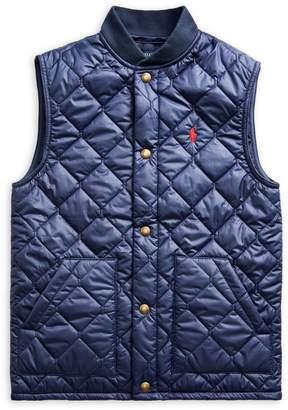 Ralph Lauren Childrenswear Boy's Quilted Cotton-Blend Vest