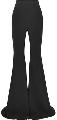 Balmain Crepe Flared Pants - Black