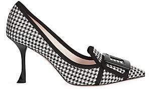 Roger Vivier Women's Soft Gommettine Houndstooth Stiletto Pumps