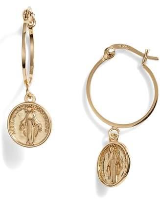 Argentovivo Medallion Drop Earrings