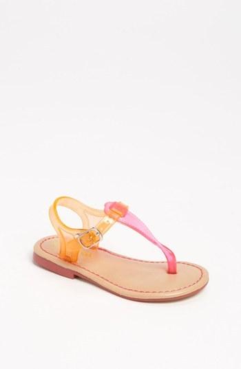 Nina 'Flynn' Jelly Strap Sandal (Walker, Toddler, Little Kid & Big Kid) Pink/ Orange 10 M