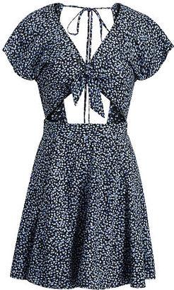 Ralph Lauren Denim & Supply Floral Tie-Front Dress $98 thestylecure.com