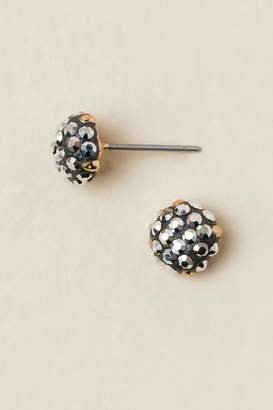 francesca's Amarga Metallic Stud Earrings - Hematite