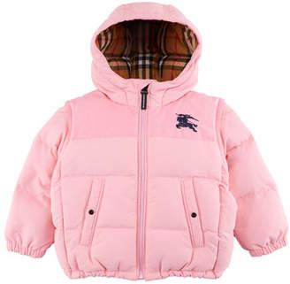 Burberry Ezra Hooded Puffer Coat, Size 12M-3