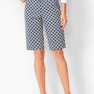 Talbots Perfect Shorts - Bermuda Length - Geo Tile Print