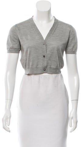 Miu MiuMiu Miu Cropped Short Sleeve Cardigan