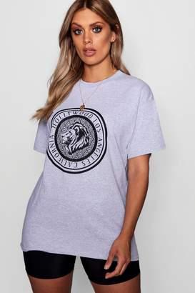 boohoo Plus Hollywood Graphic T-Shirt
