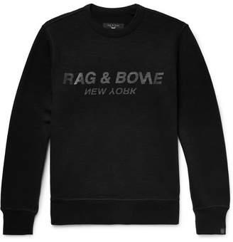 Rag & Bone Logo-Print Loopback Cotton-Jersey Sweatshirt