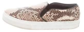 Celine Animal Print Slip-On Sneakers