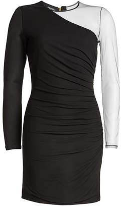 Balmain Mini Dress with Sheer Sleeve