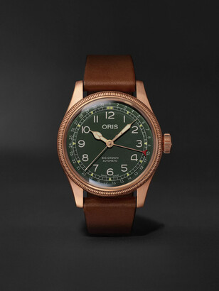 Oris Big Crown Pointer Date Automatic 40mm Bronze and Leather Watch, Ref. No. 01 754 7741 3167-07 5 20 58BR - Men - Green