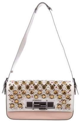 Fendi Crystal-Embellished 3Baguette Bag
