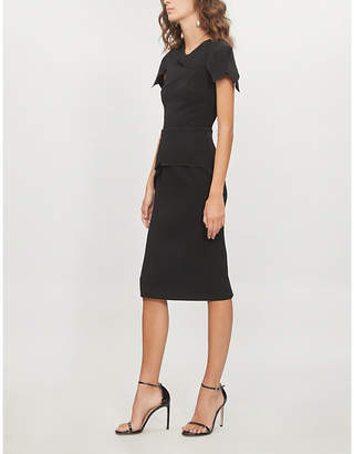 Roland Mouret Vernon draped wool-crepe dress