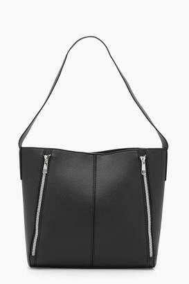 boohoo Paige Double Zip Shoulder Bag