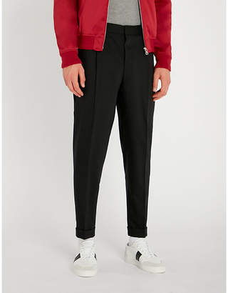 Corneliani CC Collection regular-fit tapered cropped wool-blend trousers