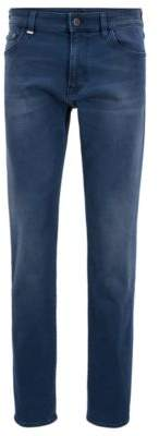 BOSS Hugo Regular-fit jeans in sulfur-dyed stretch denim 32/32 Blue