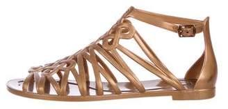 Diane von Furstenberg Jelly Ankle-Strap Sandals