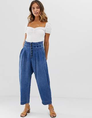 Free People Mover And Shaker cotton trouser