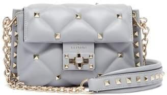 Valentino - Candystud Leather Mini Cross Body Bag - Womens - Light Blue