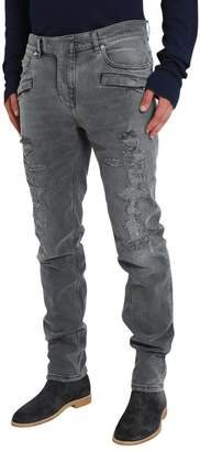 Balmain Seven Pockets Jeans With Destroyed Effect
