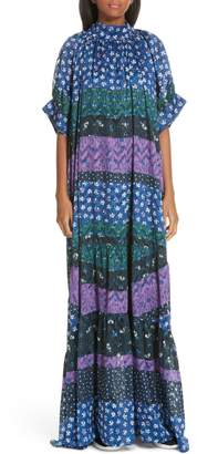 Opening Ceremony Mixed Floral Print Maxi Dress