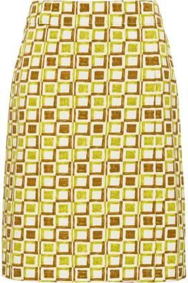 Prada checkered wraparound skirt
