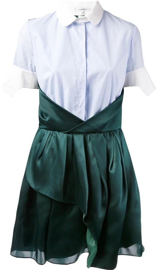 Carven bi-colour shirt dress