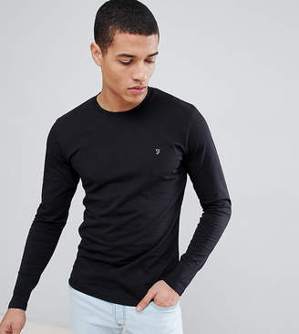 Farah T-Shirt with F Logo Slim Fit Exclusive Long Sleeves