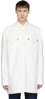 Calvin Klein White Oversized Western Shirt