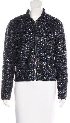 Pink Tartan Embellished Knit Jacket w/ Tags $200 thestylecure.com
