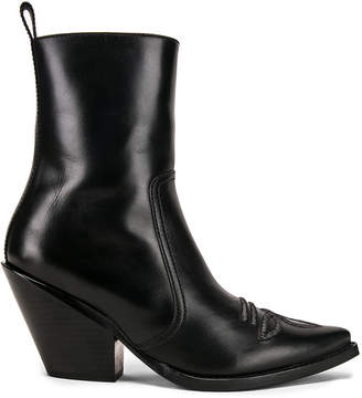 Redemption Ankle Boot with Embroidery in Black | FWRD