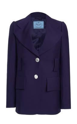 Prada Single-Breasted Mohair Wool Blazer