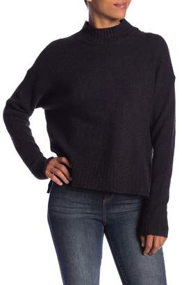 Melrose and Market Crop Mock Neck Boucle Pullover (Petite Available)