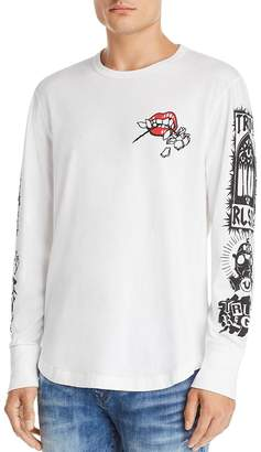 f9f62cde7 True Religion Long-Sleeve Branded Graphic Tee