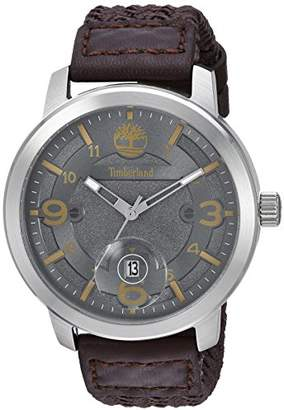 Timberland Men's TBL15017JS13 PEMBROKE Analog Display Analog Quartz Brown Watch