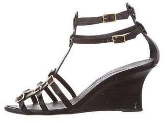 Manolo Blahnik Caged Wedge Sandals