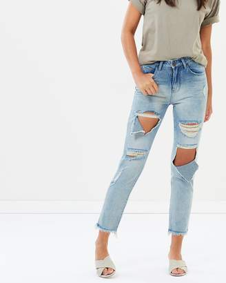 One Teaspoon Awesome Baggies High Waist Straight Leg Jeans