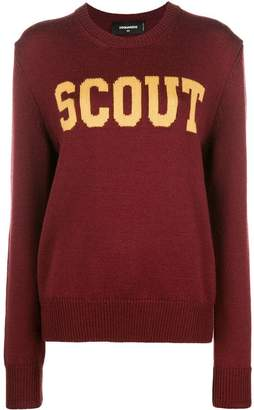 DSQUARED2 scout knit sweater
