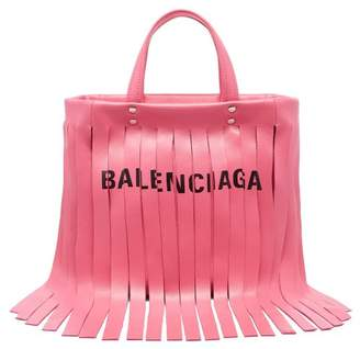 Balenciaga Laundry Fringes Xs Bag - Womens - Pink