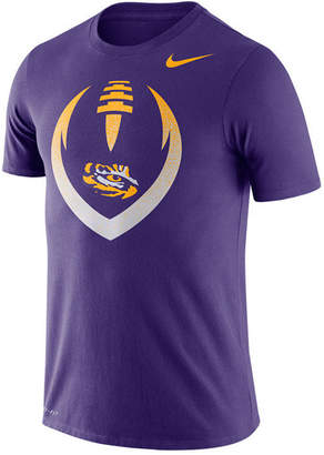 Nike Men Lsu Tigers Dri-Fit Cotton Icon T-Shirt