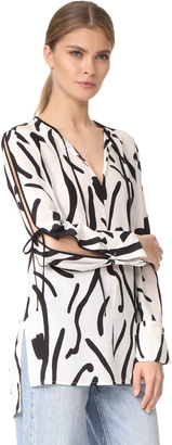 Diane von Furstenberg Keyhole Tied Blouse $298 thestylecure.com