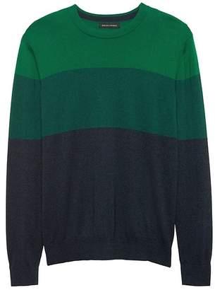 Banana Republic Silk Cotton Cashmere Stripe Sweater