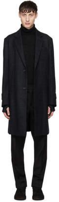 Undercover Black Wool Pocket Coat