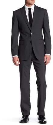 Calvin Klein Solid Wool Notch Lapel Two Button Suit $650 thestylecure.com