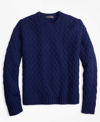 Brooks Brothers Traveling Cable Crewneck Sweater